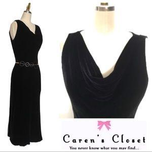 Ralph Lauren Black Velvet Cocktail Dress